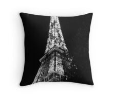 Eiffel Tower Black and White - Paris, FR Throw Pillow
