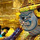 Bangkok Grand Temple Guard by Marcus Mawby