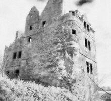 Redhouse Castle, East Lothian, Scotland by Scott Moncrieff