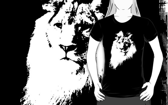 lion t-shirt by ralphyboy