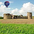Hot Air Balloon Flight over Flint Castle, WALES by AnnDixon