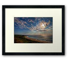 Sky rays Framed Print
