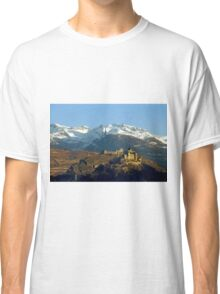 First sumbeams on Sion castle - Switzerland Classic T-Shirt