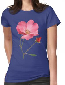 Wild rose Womens Fitted T-Shirt