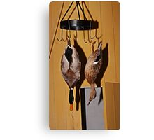 2 Ducks in a Kitchen Canvas Print