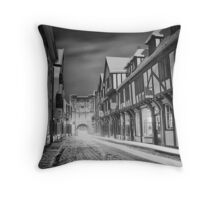 Snow rush this morning Throw Pillow