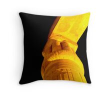 A temple by moonlight Throw Pillow