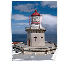 Red church lighthouse in Açores Poster