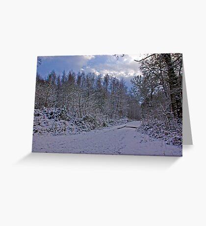 Winters Walk Greeting Card