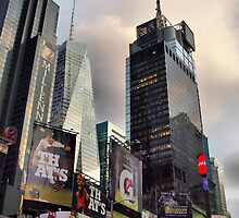 Skyscrapers in Times Square by Andrea Rapisarda