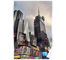 Skyscrapers in Times Square Poster