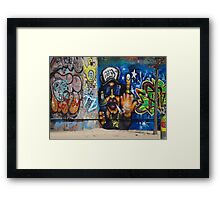 Cool Graffiti Artist Framed Print