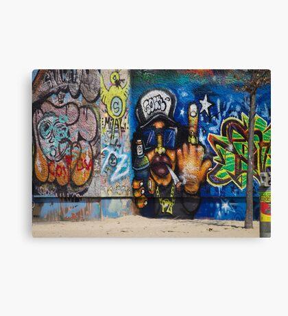 Cool Graffiti Artist Canvas Print