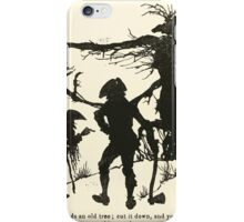 Snowdrop & Other Tales by Jacob Grimm art Arthur Rackham 1920 0138 There Stands an Old Tree iPhone Case/Skin