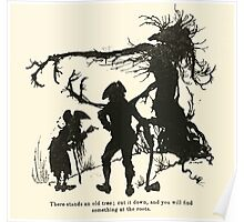 Snowdrop & Other Tales by Jacob Grimm art Arthur Rackham 1920 0138 There Stands an Old Tree Poster