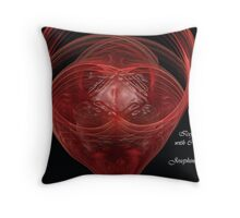 Icefilled glass with cranberryjuice Throw Pillow
