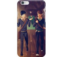 Dan and Phil Around Hogwarts iPhone Case/Skin