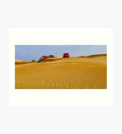 Dune-bashing Art Print