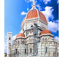 Santa Maria del Fiore cathedral in Florence Photographic Print