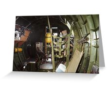 B-17 Yankee Lady ball gunner turret Greeting Card