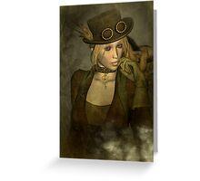 Chardonnay - Steampunk Supermodel Greeting Card