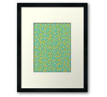 A Maze Pattern Framed Print