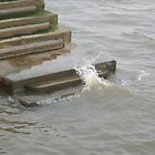 The crashing water of the Thames by Cheryl Kay-Roberts