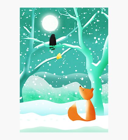 The Fox and the Crow Photographic Print