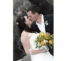 Newly wed kiss Photographic Print