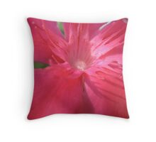 Pink Infusion Flower Throw Pillow