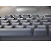 a keyboard to explore the world Photographic Print