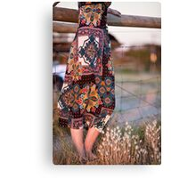 Dress and Grass Canvas Print