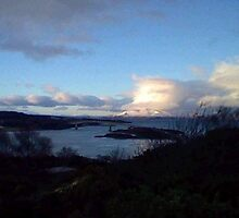 from Kyle of Lochalsh over to Skye Winter scene by highlandwhite