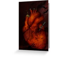 What Heart Are You? No 3: Tortured Heart Greeting Card