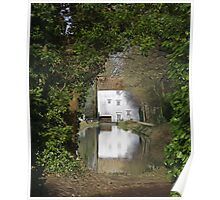 Reflections of a Water Mill (Anglesey Cambridgeshire) Poster