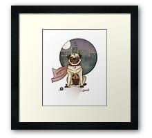 Captain pug! Framed Print