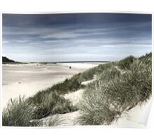A walk on the Beach -Wells next the Sea  Norfolk Poster