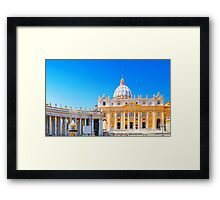 Rome, Italy - St Peters Basilica Framed Print