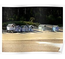The last 6 Beach Huts, Wells next the Sea Norfolk Poster