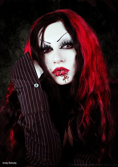 a vampires portrait  by 1chick1