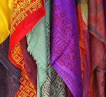 Scarves, Kathmandu by AlliD