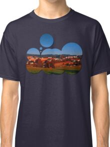 Small rural town skyline at sunrise | landscape photography Classic T-Shirt