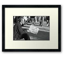 Why Lie Framed Print