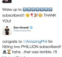 Phil Hits 2 Million Subscribers by OhMyJo