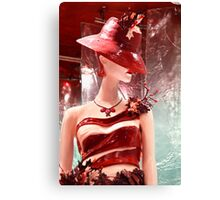 Lady Chocolate Portrait (made of chocolate) Canvas Print