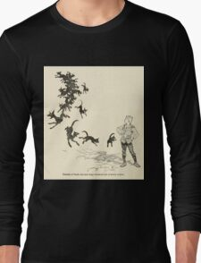 Snowdrop & Other Tales by Jacob Grimm art Arthur Rackham 1920 0198 Black Cats and Dogs from Every Corner Long Sleeve T-Shirt