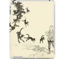 Snowdrop & Other Tales by Jacob Grimm art Arthur Rackham 1920 0198 Black Cats and Dogs from Every Corner iPad Case/Skin