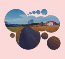 Country road, scenery and blues sky | landscape photography Baby Tee