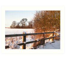 Snow & Sun Art Print