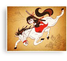 A Dream of a Samurai Canvas Print